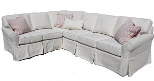 Slipcovered Sectional Sofas Washable Sectional Sofa Linen Fabric Slipcover