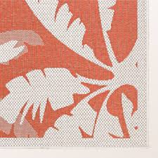 Red Outdoor Rug by Koa Coral Tropical Palm Tree Indoor Outdoor Rugs