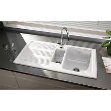 Belfast Kitchen Sink Rangemaster Portland Kitchen Sink Cpl10102wh 1 5 Bowl White