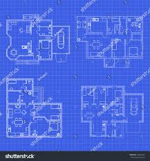 architectural set ground floor blueprints vector stock vector