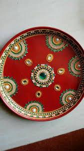 puja ki thali decoration for navratri