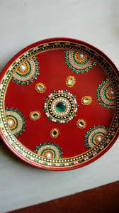 Decorate Dandiya Sticks Home Puja Ki Thali Decoration For Navratri