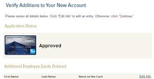 American Express Business Card Application Just Got Approved For American Express Lowe U0027s Busi Myfico