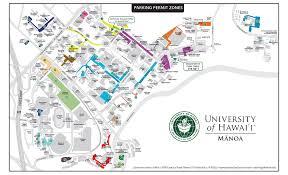 map zones uh manoa parking maps