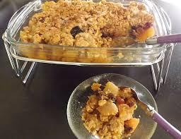 cuisine chataigne recette crumble sans gluten pomme poire flocon châtaigne
