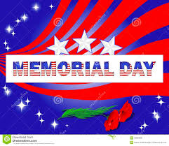memorial day banner and red poppies royalty free stock image