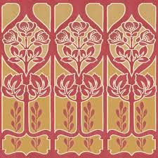 10 in x 8 in red gold large trellis border sample metallics