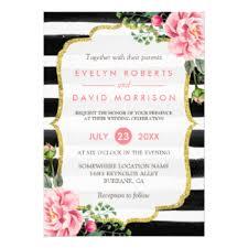 black and white striped wedding invitations black and white striped wedding invitations announcements zazzle