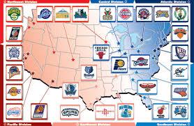 nba divisions map nba com espanol los equipos