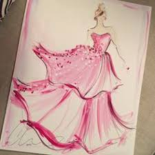 sketch of the day textured ombré tulle gown new sketch prints