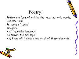 pattern poem definition elements of poetry