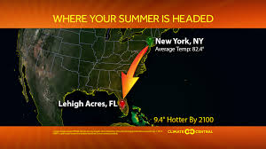 Current Temperature Map Usa by Blistering Future Summers For 1 001 U S Cities Climate Central