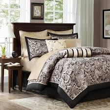 Silver Queen Comforter Set Shop Madison Park Aubrey Collection Black Silver The Home