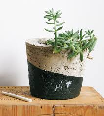 chalkboard paint concrete planter home garden u0026 patio simplynu