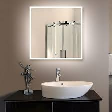 36 x 36 in square led mirror touch button dk od n031 e
