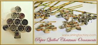 paper quilled ornaments using magazines scrap pieces of
