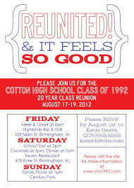 fundraising ideas for class reunions and black school colors class reunion invitation invitations