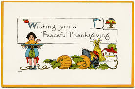 a peaceful thanksgiving vintage postcard design shop