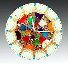 appealing art glass wall clock 118 art deco glass wall clocks