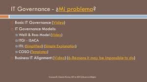 it governance gsi 615 carmen r cintrón ferrer ppt download