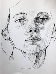 charcoal sketch of my little sister available here for 100
