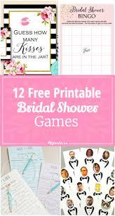 12 free printable bridal shower games via tipjunkie party time