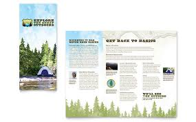 island brochure template nature cing hiking brochure template word publisher