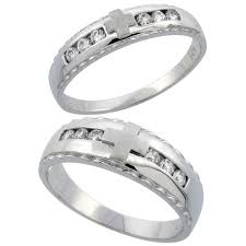 Sterling Silver Wedding Ring Sets by His And Hers Wedding Ring Sets