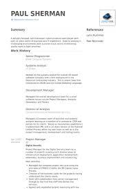 Programmer Resume Sample by Senior Programmer Resume Samples Visualcv Resume Samples Database