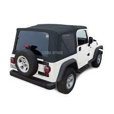 jeep wrangler blue sierra offroad jeep wrangler tj soft top 2003 06 in blue twill w