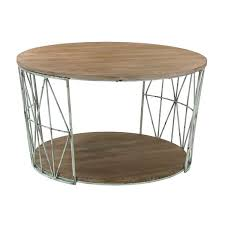 round wood and metal end table 32 inch sterling round wood and metal coffee table free shipping