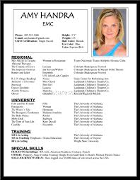How To Make A Theatre Resume Actors Resume Example