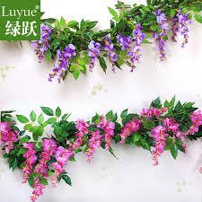 fake flowers for home decor simulation wisteria vine wall curd artificial flowers artificial