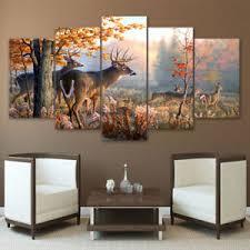 wildlife home decor framed two buck deer wildlife nature canvas print home decor wall