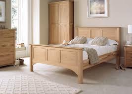 Light Wood Bedroom Vermont Oak Hfe Bed Frame Light Wood Wooden Beds Beds