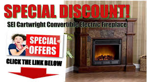 sei cartwright electric fireplace best discounts sei cartwright