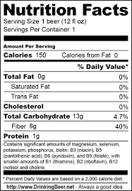 light beer calories list nutrition facts labels on alcohol products quicklabel blog