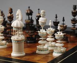 chess styles edel style ivory set late 19th century photo tim nighswander