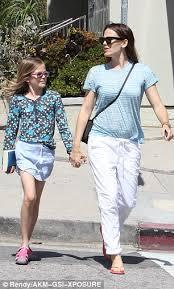 jennifer garner takes daughter violet to a treat day at brentwood