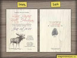 wedding invitations canada custom nature rustic wedding invitations from winnipeg canada