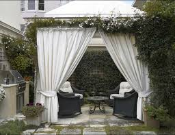Outdoor Gazebo With Curtains Small Backyard With Gazebo Featured White Curtains Useful