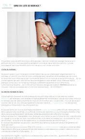 exemple liste de mariage mlle analyse la liste de mariage ameliste