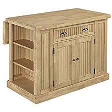 home styles nantucket kitchen island amazon com home styles nantucket butcher block top