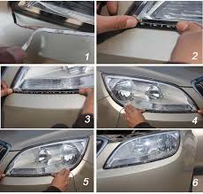 how to install led lights in car headlights 23 5 inches side glow flexible led strip lights for headlights turn