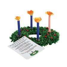 tissue paper advent wreath craft kit orientaltrading com