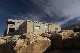 Pueblo Adobe Houses by Kiva Ancestral Pueblo Ceremonial Structures
