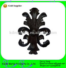 china manufacturer wrought iron metal ornaments cast iron leaves