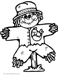 89 scarecrows images coloring