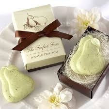 bridal shower soap favors the pair pear soap favor