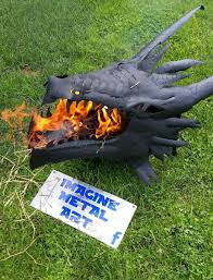 handmade fire pit fire breathing dragon fire pit the green head